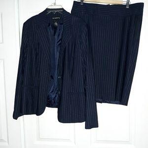 Women's 2 piece blue suit